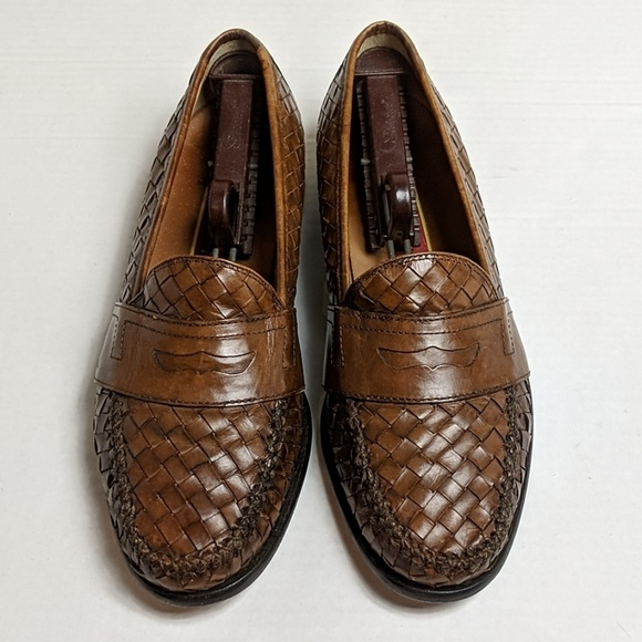 Cole Haan Woven Leather Penny Loafer